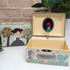 Personalsied Musical Jewelley Box - Princess