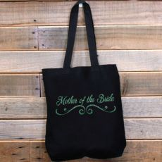 Mother of the Bride Tote Bag Glitter Print