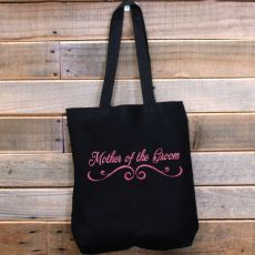 Mother of the Groom Black Tote Bag Glitter Print