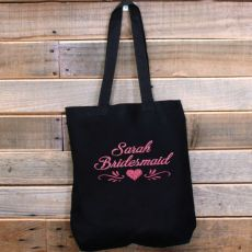 Bridal Party Personalised Tote Bag Bride / Bridesmaid / Maid of Honour