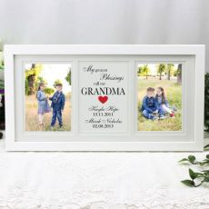 Grandma Gallery Photo Frame 4x6 Typography Print White