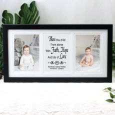 Christening Gallery Photo Frame 4x6 Typography Print Black