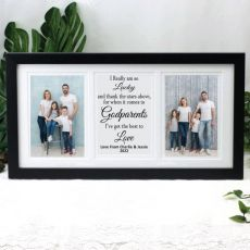 Godparent Gallery Photo Frame 4x6 Typography Print Black
