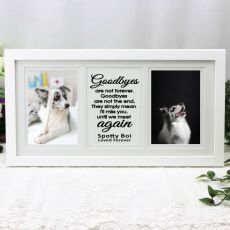 Pet Memorial Gallery Photo Frame 4x6 Typography Print White