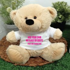 Custom Text T-Shirt Bear Cream Plush