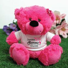 Personalised Graduation Teddy Bear - Hot Pink