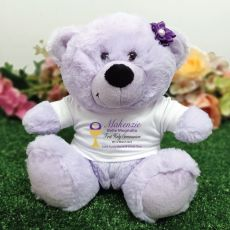 Holy Communion Personalised Bear - Lavender
