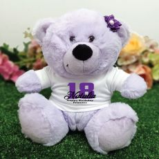 18th Birthday Personalised Teddy Bear Lavender Plush