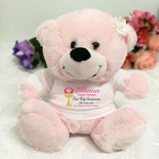 Personalised First Holy Communion Bear - Pink