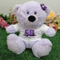Personalised Birthday Teddy Bear Lavender Plush