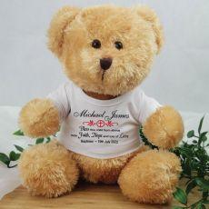Baptised Personalised Teddy Bear - Andy Brown