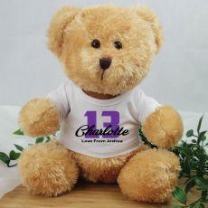 Personalised 13th Birthday Teddy Bear - Andy Brown