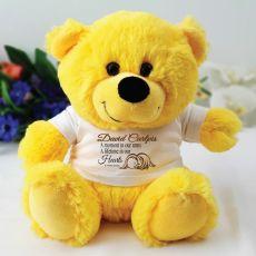 Personalised Angel Memorial Teddy Bear - Yellow