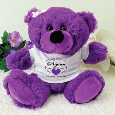 In Loving Memory Memorial Teddy Bear - Purple