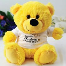 Personalised Graduation Teddy Bear - Yellow