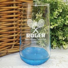 Tennis Coach Engraved Personalised Glass Tumbler