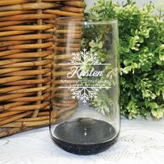 Christmas Engraved Personalised Glass Tumbler 400ml