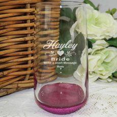 Bride Engraved Personalised Glass Tumbler