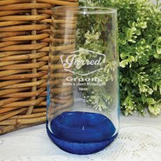 Groom Engraved  Engraved Personalised Glass Tumbler