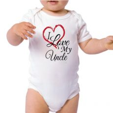 I Love My Uncle Baby Bodysuit