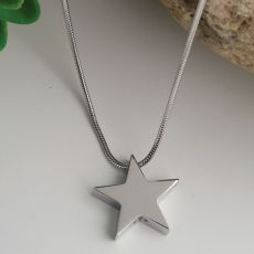 Star Memorial Urn Cremation Ash Necklace