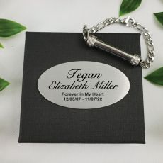 Cremation Ash Urn Bracelet In Personalised Box