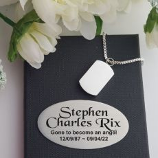 Cremation Ash Urn Pendant Necklace in Personalised Box