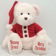 Personalised Christmas Teddy Bear Plush - Nana