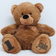 Personalised 1st Birthday Teddy Bear 40cm Plush Brown