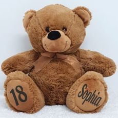Personalised 18th Birthday Teddy Bear 40cm Plush Brown