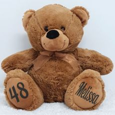 Personalised Birthday Teddy Bear 40cm Plush Brown