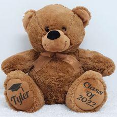Graduation Personalised Teddy Bear 40cm Plush Brown