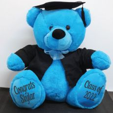 Personalised Graduation Bear with CapeBlue 40cm