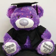 Personalised Graduation Bear Hollywood Purple 40cm