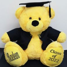 Personalised Graduation Bear with Cape Yellow 40cm