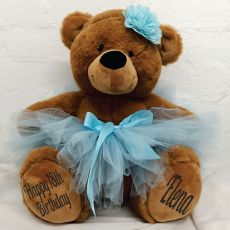 18th Birthday Ballerina Teddy Bear 40cm Plush Brown