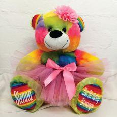 21st Birthday Ballerina Teddy Bear 40cm Plush Rainbow