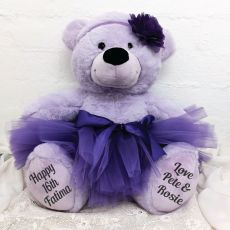 16th Birthday Ballerina Teddy Bear 40cm Plush Lavender