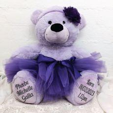 Baby Ballerina Teddy Bear 40cm Plush Lavender