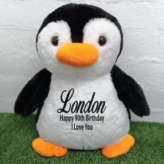 90th Birthday Bear 40cm Pecky Penguin Plush