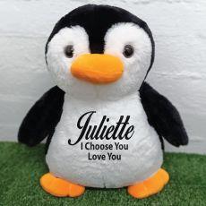Personalised Bear 40cm Pecky Penguin Plush