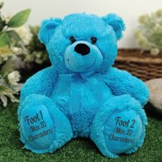 Page Boy Teddy Bear 30cm Bright Blue