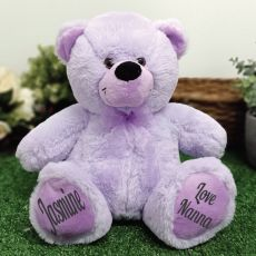 Personalised Message Bear 30cm Lavender