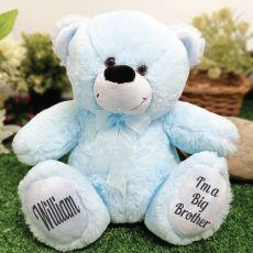 Big Brother Teddy Bear 30cm Light Blue