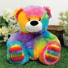 Big Brother Teddy Bear 30cm Rainbow