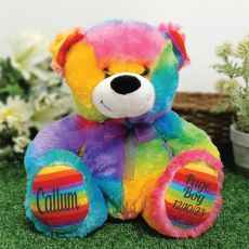 Page Boy Teddy Bear 30cm Rainbow
