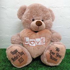 Nana Love Bear With Heart 40cm Dusky Pink