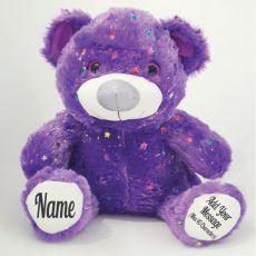 Personalised Message Teddy Bear 40cm Hollywood - Purple