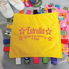 Personalised Baby Taggies Blanket - Pink Floral