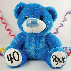 40th Birthday Teddy Bear 40cm Hollywood Blue